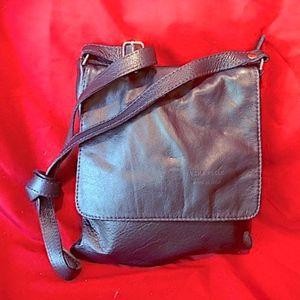 VERA PELLE NAVY BLUE SHOULDER BAG